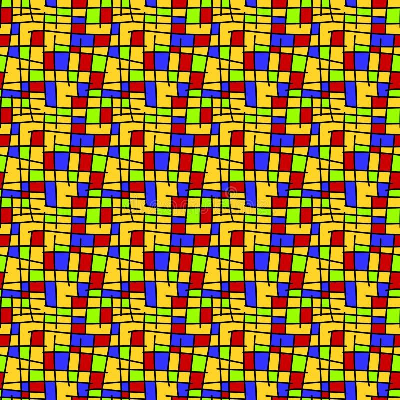 Mondrian ajuste le fond sans couture illustration stock