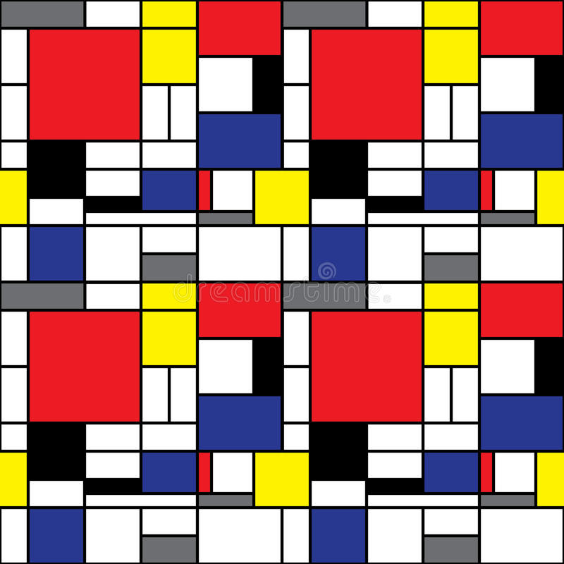 Download Mondrian Background stock vector. Image of nineties, seamless - 23368674