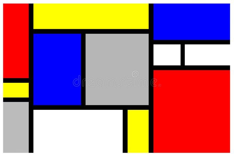 Mondrian geïnspireerdt art. royalty-vrije illustratie