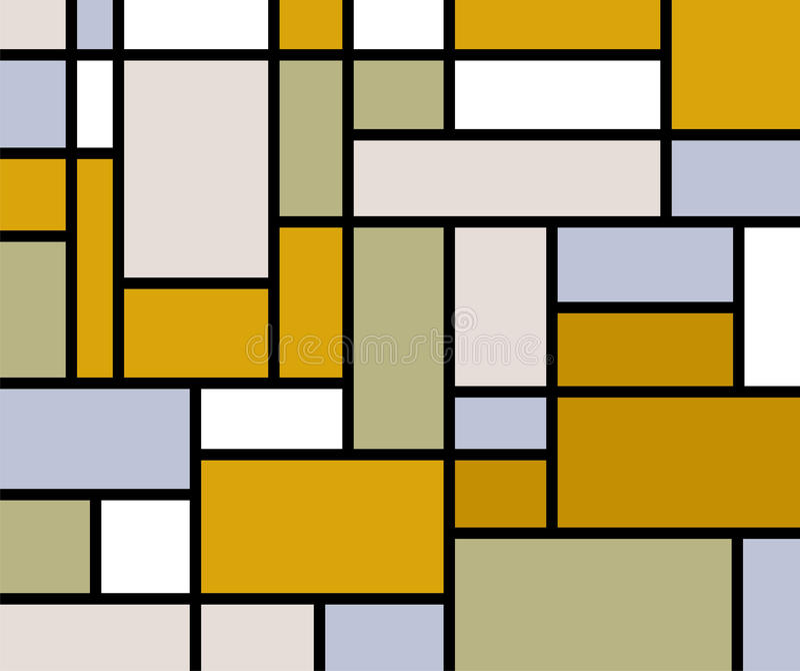 Mondrian geht Druck Retro- vektor abbildung