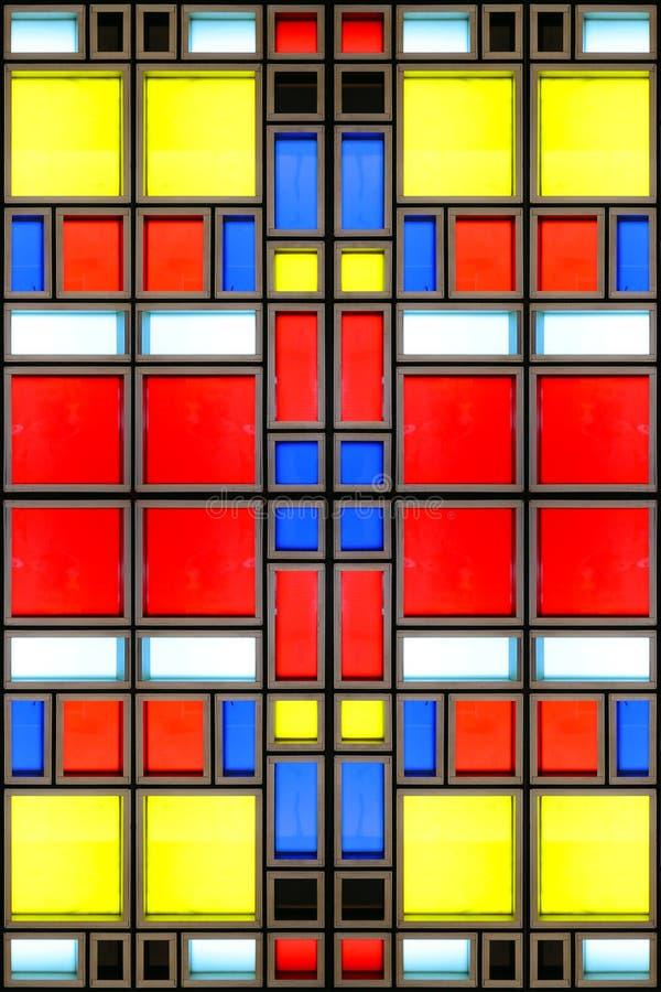 Mondrian-Glasbeschaffenheit stockbilder