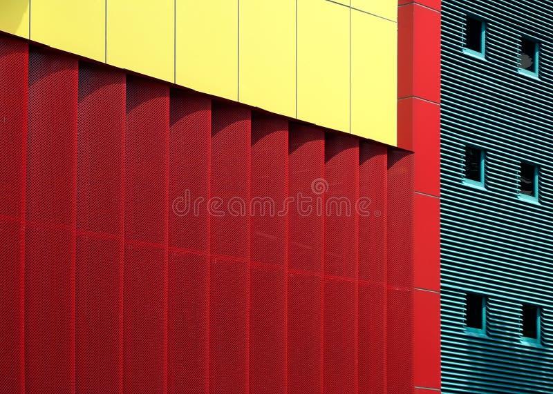 Mondrian ha ispirato l'architettura fotografie stock libere da diritti