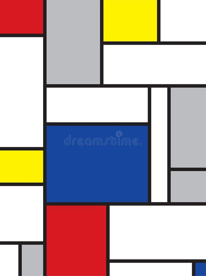 Mondrian inspired art vector illustration