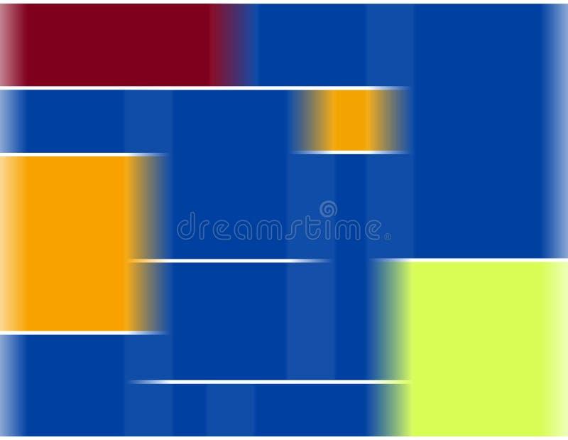 Mondrian style composition stock photo