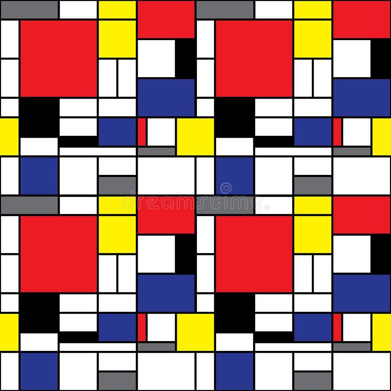 Mondrian Tło royalty ilustracja