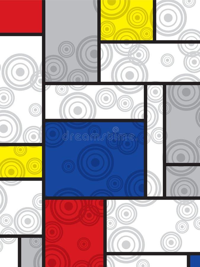 Mondrian va retro stampa illustrazione vettoriale