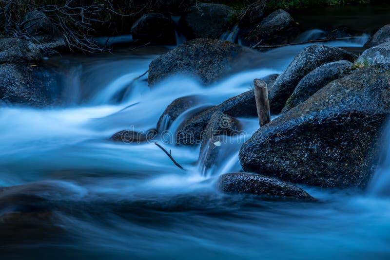 Mondschein-Fluss stockbilder