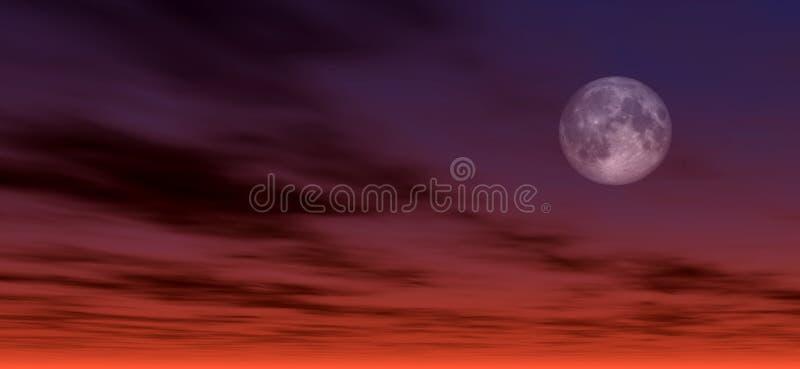 Mondscheinhintergrund 2 lizenzfreie abbildung