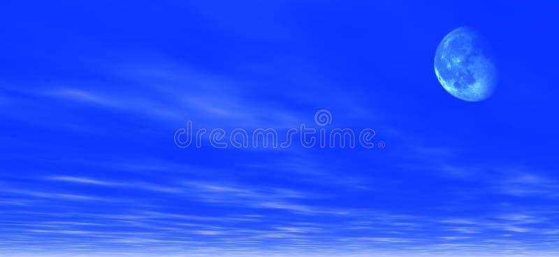 Download Mondscheinhintergrund stock abbildung. Bild von himmel, weiß - 41245