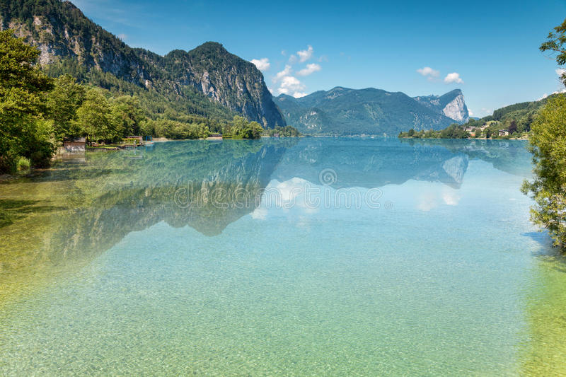 Mondsee lake in Austria royalty free stock photo