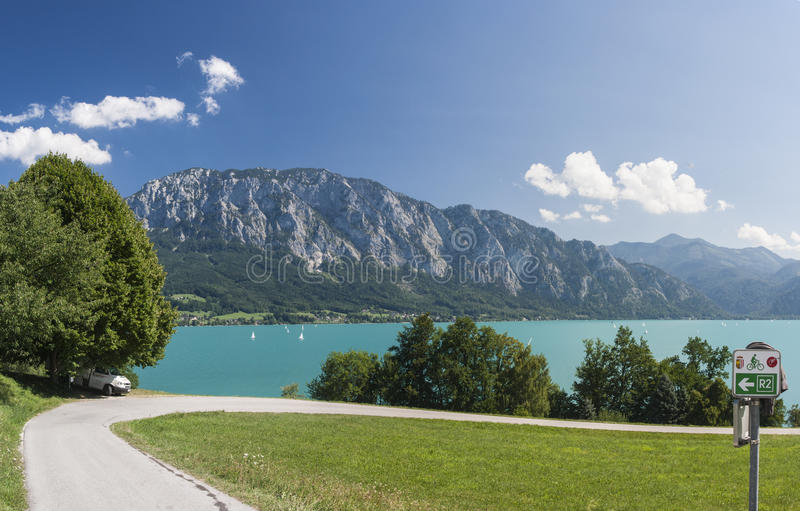 Mondsee lake royalty free stock photography