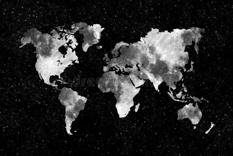 Mondweltkarte lizenzfreies stockfoto