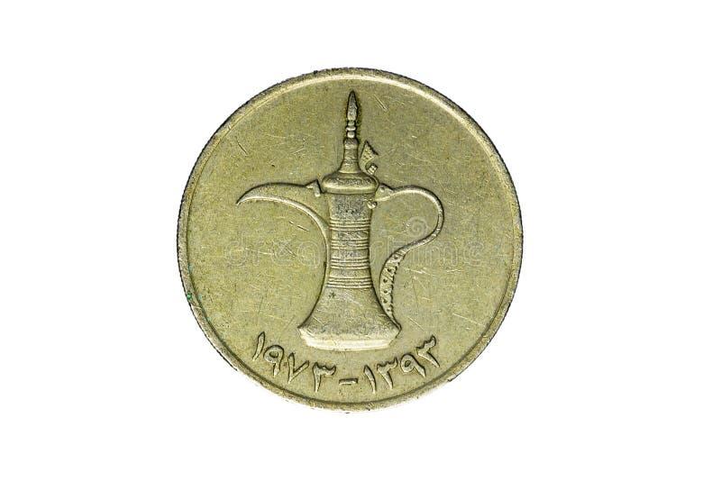 Moneda antigua de los Emiratos Árabes Unidos imagen de archivo
