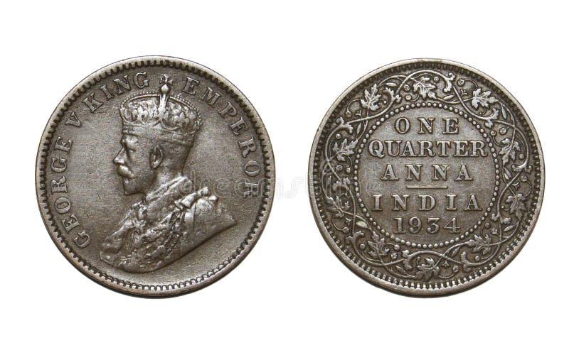 Moneda británica vieja imagen de archivo