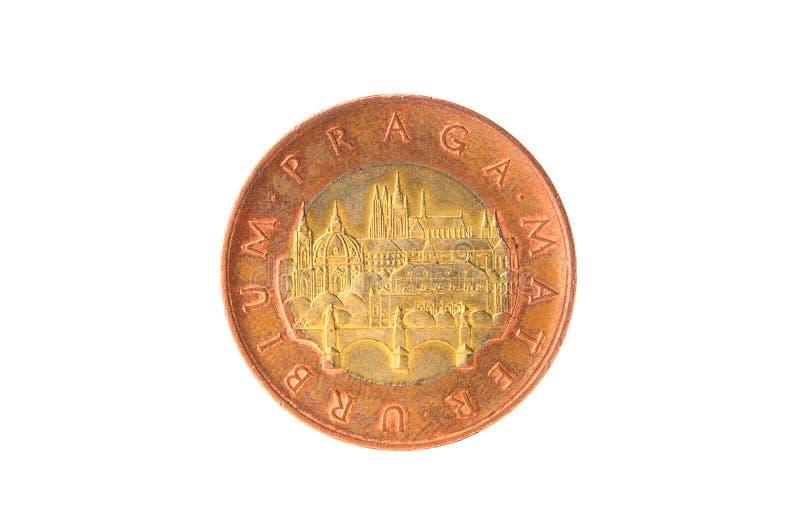 Moneda checa de la corona fotografía de archivo libre de regalías