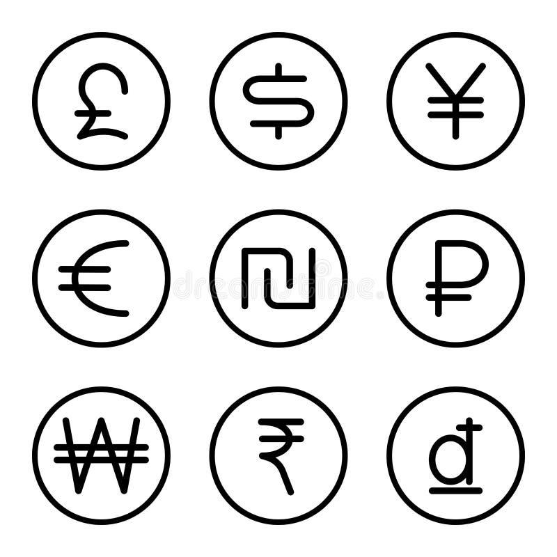 Moneda con el sistema 1 de la muestra del dinero libre illustration