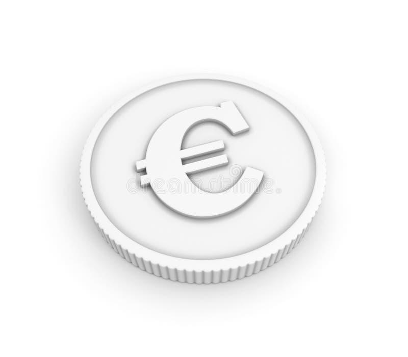 Moneda con la muestra euro libre illustration