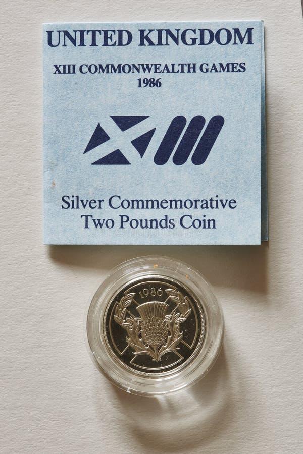 Moneda conmemorativa imagenes de archivo