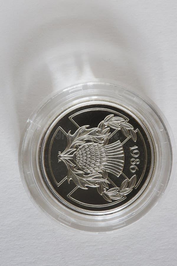 Moneda conmemorativa fotos de archivo