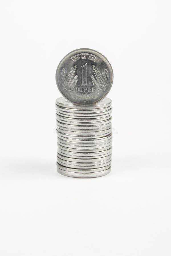 moneda de 1 rupia fotos de archivo libres de regalías