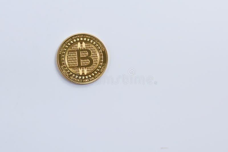 Moneda de Bitcoin fotografía de archivo