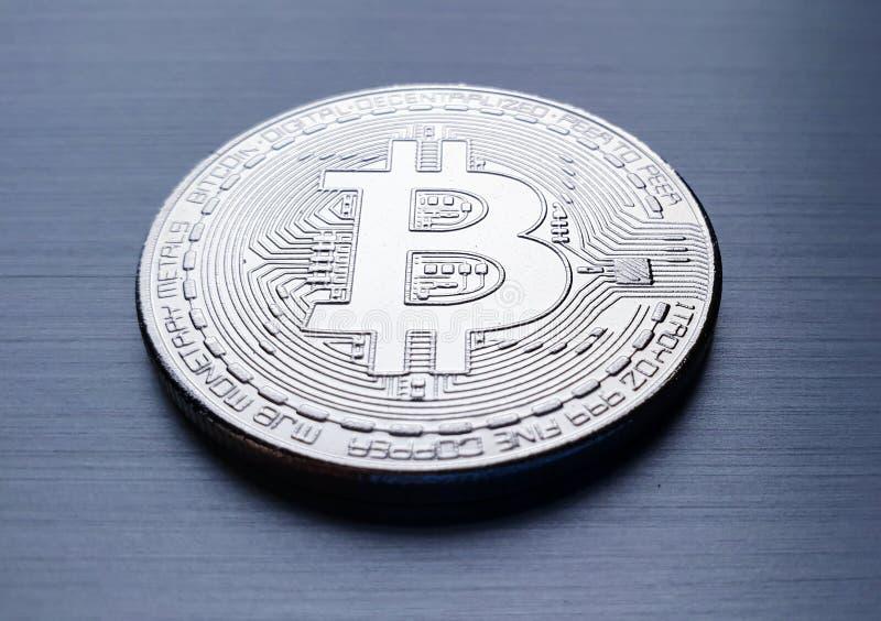 Moneda de bitcoin imagen de archivo