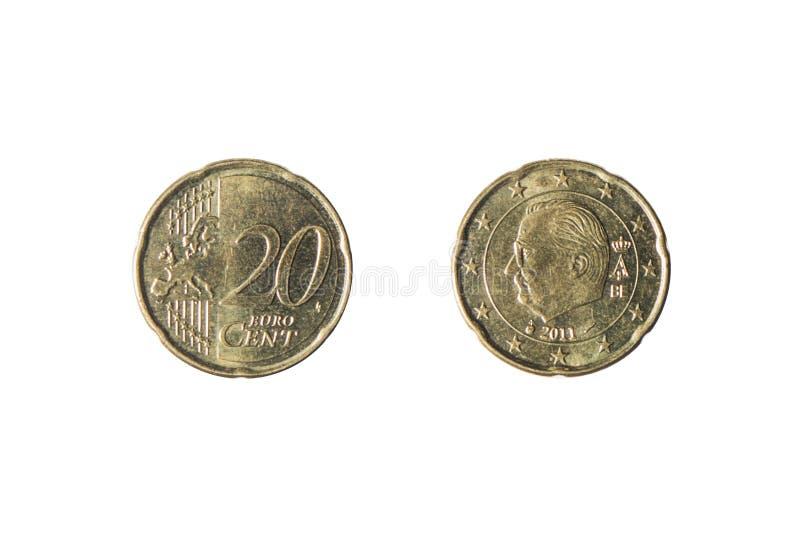Moneda de 20 centavos euro imágenes de archivo libres de regalías