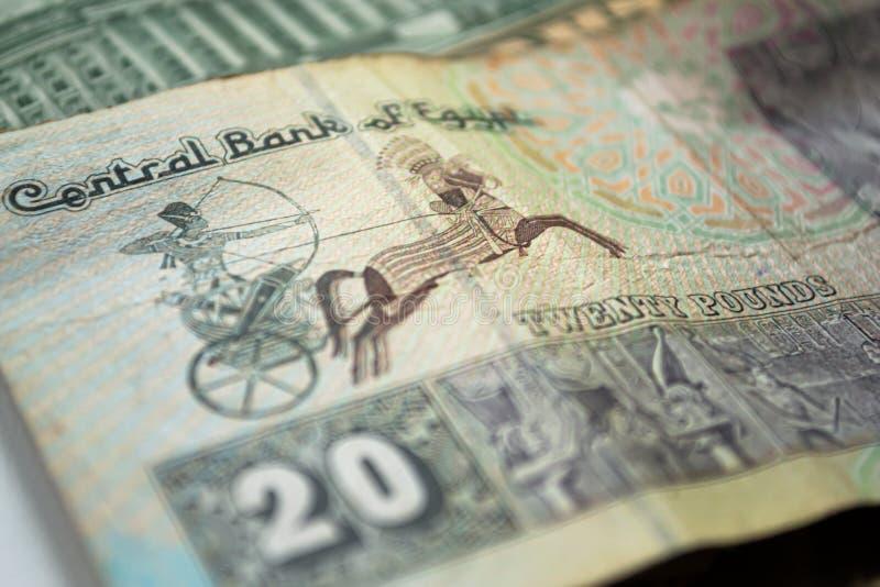 Moneda de Egipto Veinte libras Banco central de Egipto foto de archivo libre de regalías