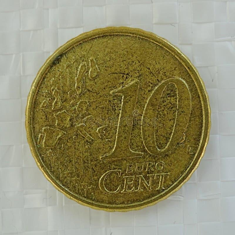Moneda de error del centavo euro 10 fotos de archivo libres de regalías