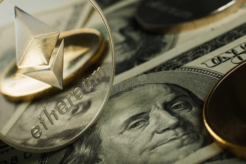 Moneda de Ethereum foto de archivo libre de regalías