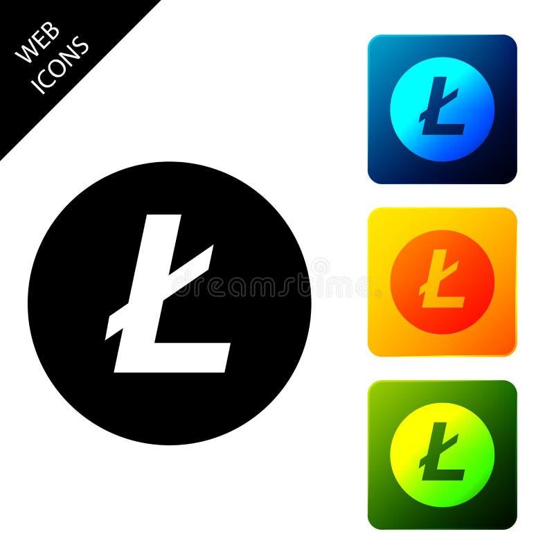 Moneda de la criptodivisa Icono de Litecoin LTC aislado Moneda de bit física Moneda digital Símbolo Altcoin Basado en cadena de b libre illustration