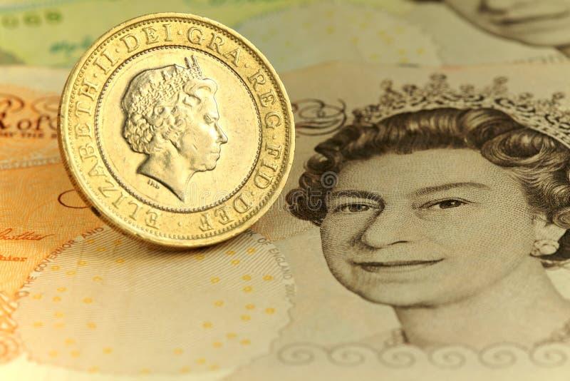 Moneda de libra dos fotografía de archivo