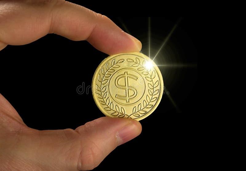 Moneda de oro foto de archivo libre de regalías
