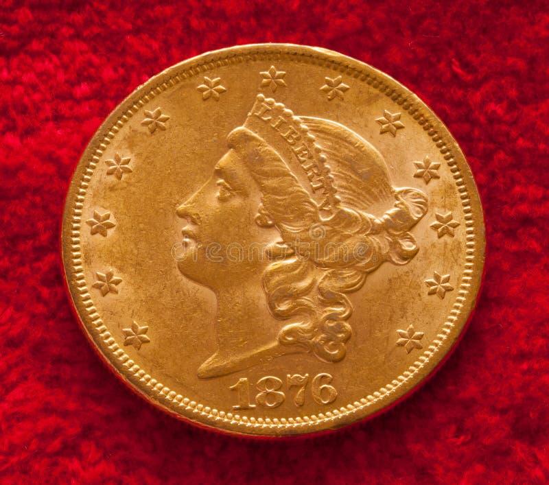 Moneda de oro imagen de archivo