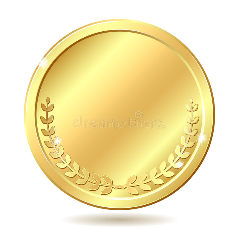 Moneda de oro ilustración del vector
