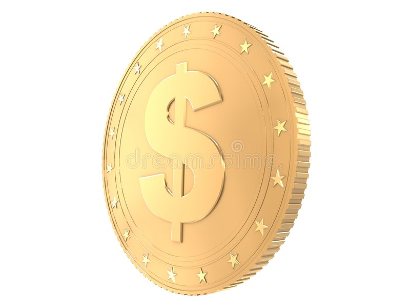 Moneda de oro libre illustration