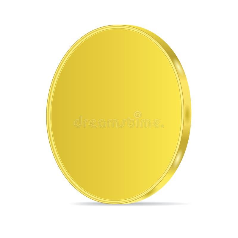 moneda de oro brillante 3d stock de ilustración