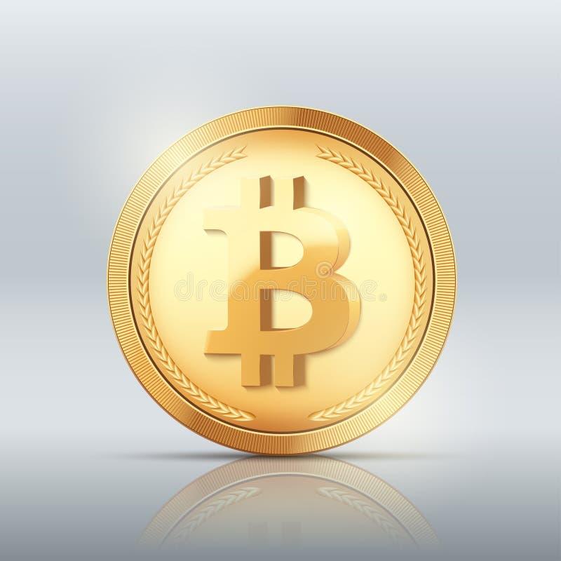 Moneda de ORO de Cryptocurrency BITCOIN libre illustration