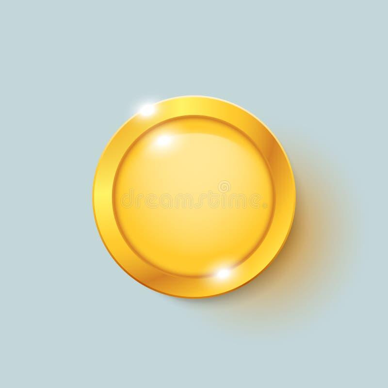 Moneda de oro en brillante libre illustration