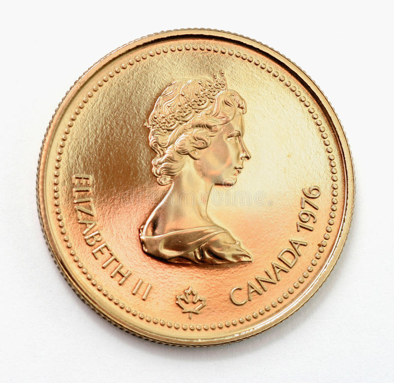 Moneda de oro olímpico fotografía de archivo libre de regalías