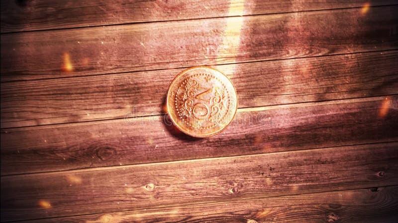 Moneda de oro para seleccionar (medalla) caer almacen de metraje de vídeo