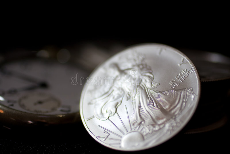 Moneda de plata foto de archivo libre de regalías