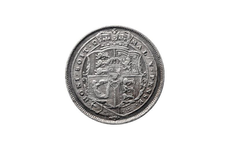 Moneda de plata del sixpence de George III fotografía de archivo libre de regalías
