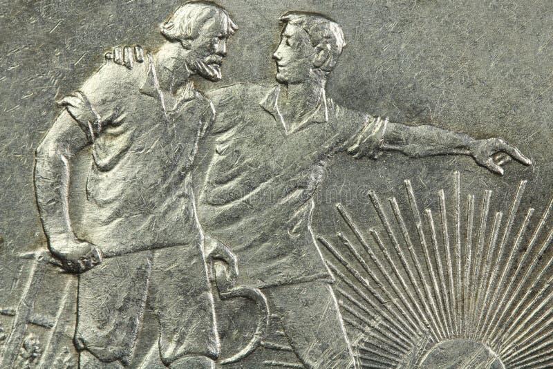Moneda de plata vieja fotos de archivo