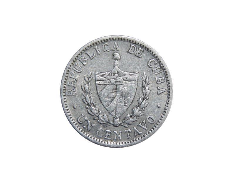 1 moneda del centavo de Cuba fotos de archivo