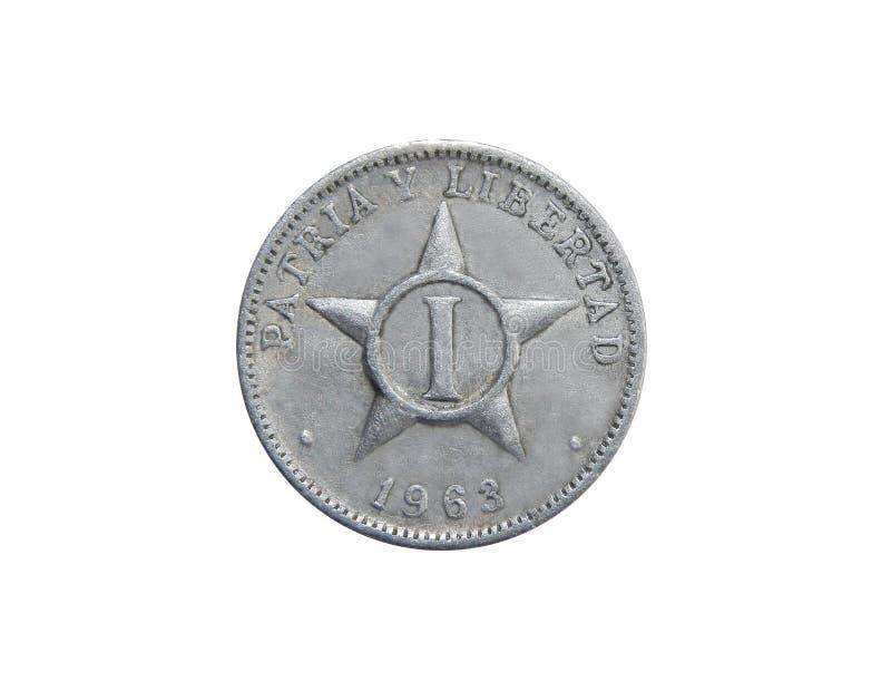 1 moneda del centavo de Cuba fotografía de archivo libre de regalías