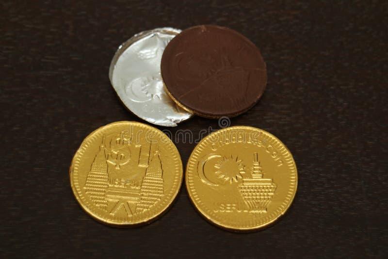 Moneda del chocolate fotografía de archivo libre de regalías