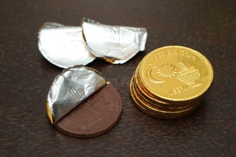 Moneda del chocolate fotografía de archivo