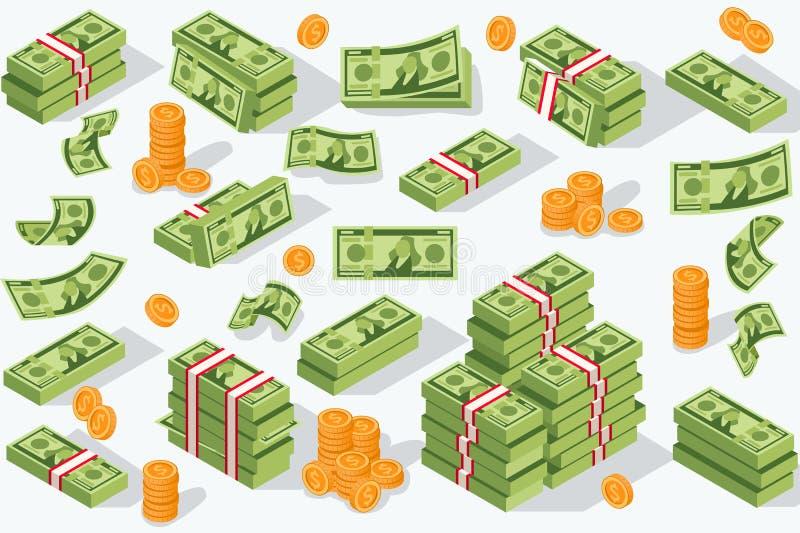 Moneda del dinero del vector stock de ilustración