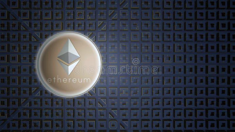 Moneda del ethereum del icono del oro libre illustration